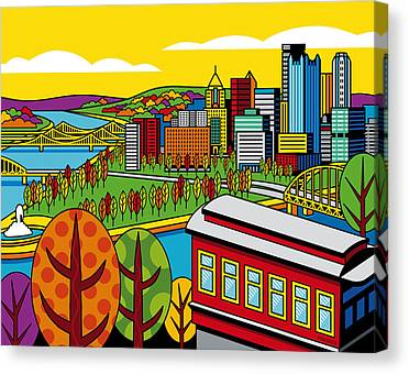 Duquesne Incline Canvas Prints