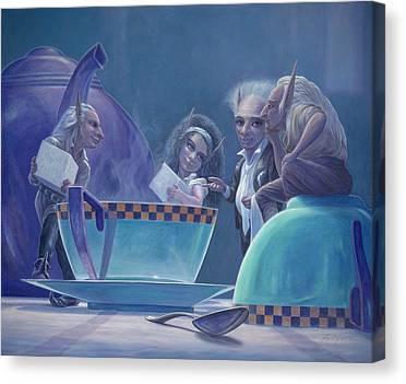 Tea Party Paintings Canvas Prints