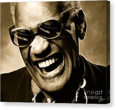 Blues Music Ray Charles Canvas Prints