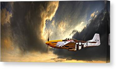 P-51 Mustang Canvas Prints