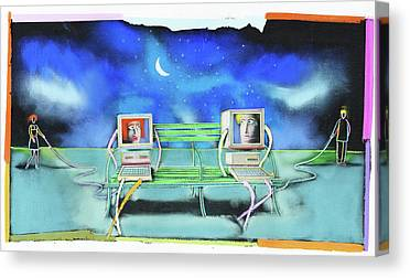 Cyber Date Canvas Prints