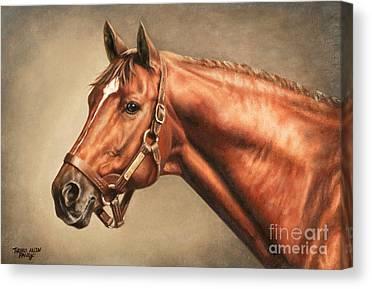 Horse Race Canvas Prints