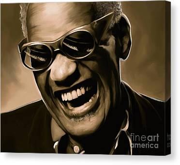 Ray Charles Soul Music Canvas Prints