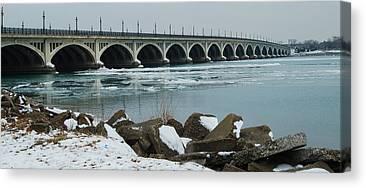 Belle Isle Bridge Canvas Prints