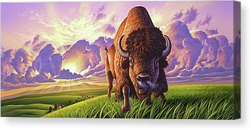 Prairie Sunrises Canvas Prints