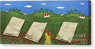 Country Scenes Mixed Media Canvas Prints