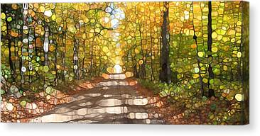 Old Country Roads Mixed Media Canvas Prints