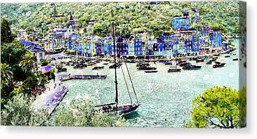 Portofino Italy Mixed Media Canvas Prints