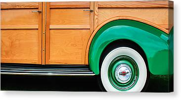 Old Woody Station Wagon Canvas Prints