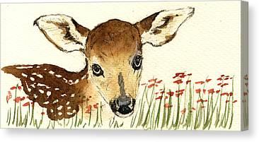 Bambi Canvas Prints