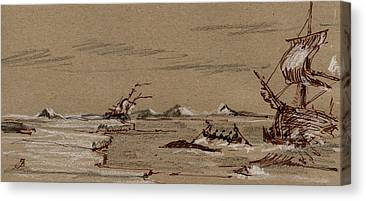Whaling Canvas Prints