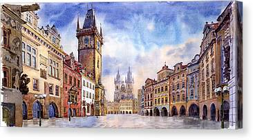 Old Town Canvas Prints