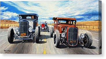Custom Hot Rod Canvas Prints