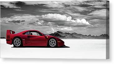 Red Ferrari Canvas Prints