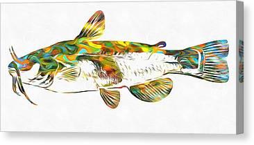 Catfish Mixed Media Canvas Prints