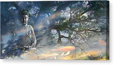 Coy Canvas Prints
