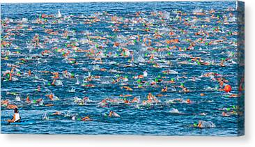 Triathalon Canvas Prints