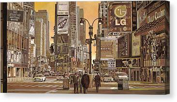 Time Square Canvas Prints