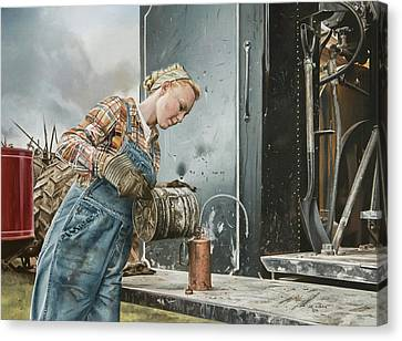 Steam Tractor Canvas Prints