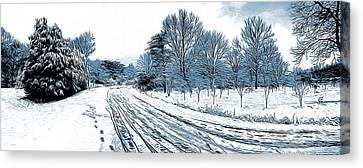 Winter Roads Digital Art Canvas Prints