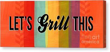Grill Mixed Media Canvas Prints