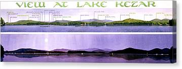 Maine Mountains Paintings Canvas Prints