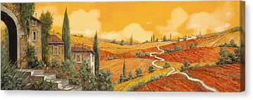 Vineyard Scene Canvas Prints