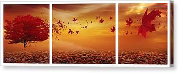Maple Trees Digital Art Canvas Prints