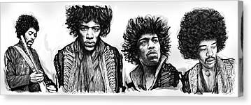 James Marshall Jimi Hendrix Canvas Prints