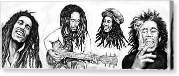 Bob Marley Abstract Canvas Prints