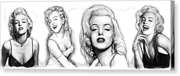 1950s Poster Drawings Canvas Prints