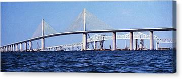 Florida Bridge Mixed Media Canvas Prints