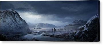 Snow Landscape Mixed Media Canvas Prints
