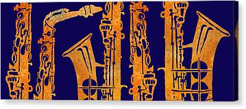 Saxophone Canvas Prints