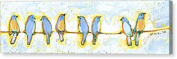 Birds On A Wire Canvas Prints