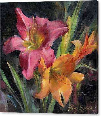 Day Lily Canvas Prints