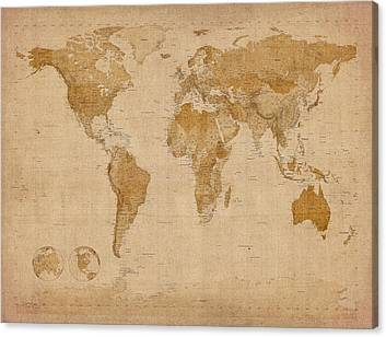Old Map Canvas Prints