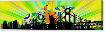 Harlem Ny Digital Art Canvas Prints