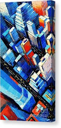 New York City Rooftop Canvas Prints