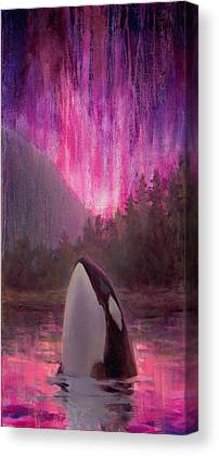 Orcas Canvas Prints