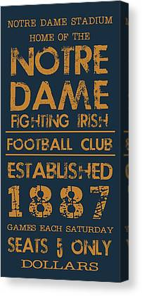 Notre Dame Football Canvas Prints