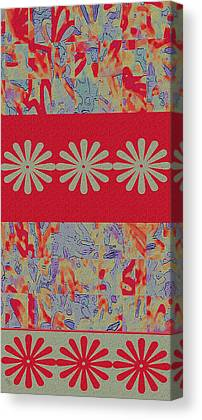 Fabric Collage Tapestries Textiles Canvas Prints