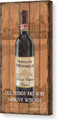 Wine Bottle Mixed Media Canvas Prints