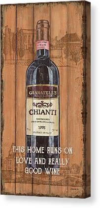 Wine-bottle Mixed Media Canvas Prints