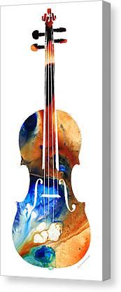 Strings Mixed Media Canvas Prints
