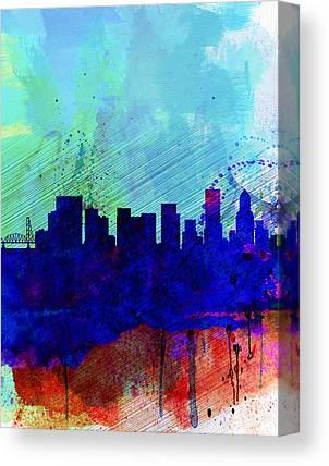 Portland Cityscape Canvas Prints