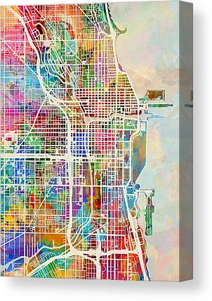 United States Map Canvas Prints