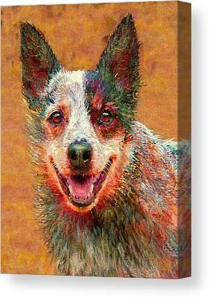 Kelpie Digital Art Canvas Prints