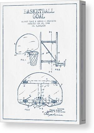 Basketball Goal Patent Canvas Prints