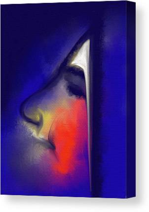 Bleu Visage Canvas Prints